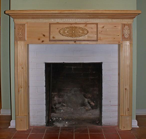 wood fireplace mantel plans