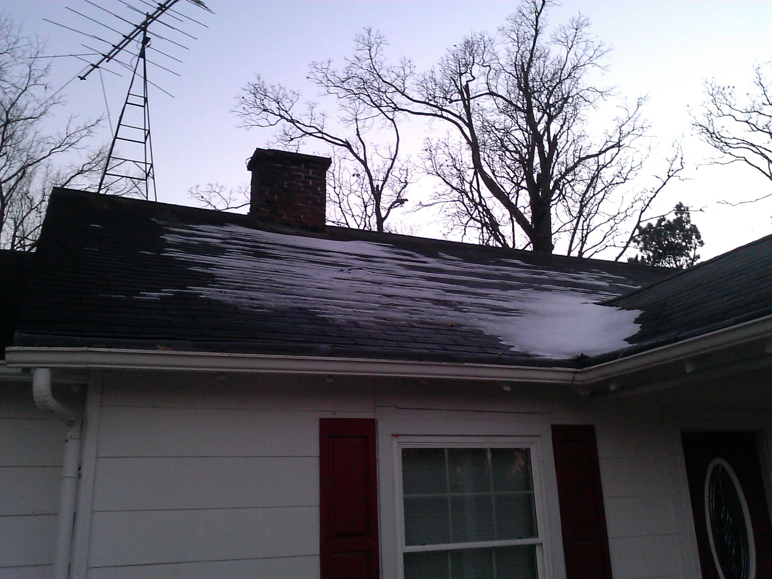 Snow on Roof top & R50 Attic Insulation- They called me crazy   Duckweed Gardening